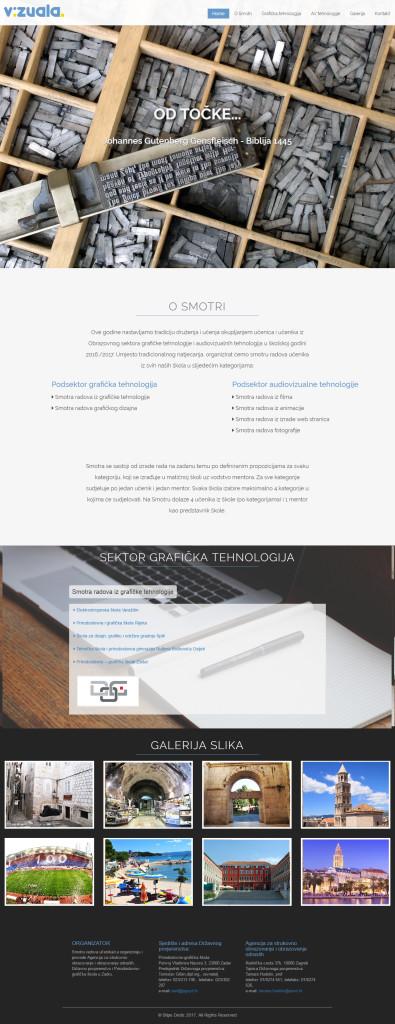 vizuala, web screen