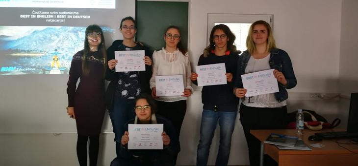 Certifikati natjecanja iz engleskog jezika