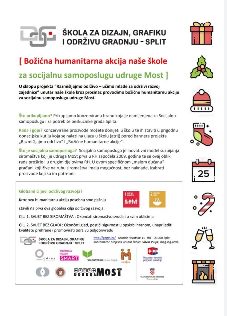 Humanitarna božićna akcija - Razmišljajmo održivo _letak_web